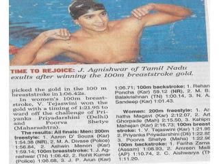 Agnishwar Jayaprakash After Winning 100m Breaststroke Gold '08