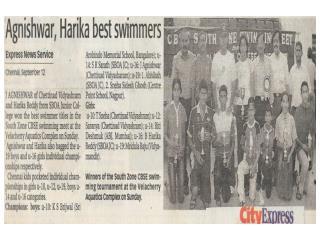 Agnishwar Jayaprakash Best Swimmer