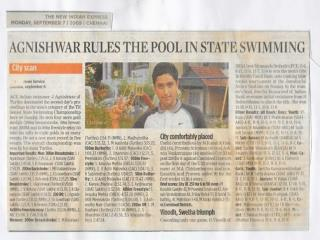 Agnishwar Jayaprakash Rules the Pool