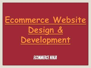 Ecommerce Website Design & Development