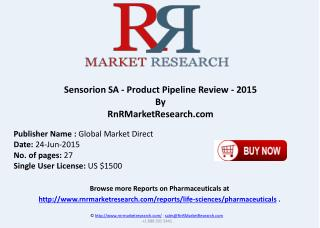 Sensorion SA Product Pipeline Review 2015
