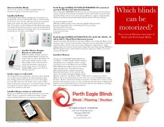 Motorized Window Shutters and Blinds from Perth Eagle Blinds