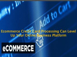 Ecommerce Credit Card Processing Can Level Up Your Online Business Platform