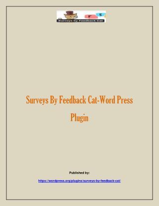 Surveys By Feedback Cat-Word Press Plugin