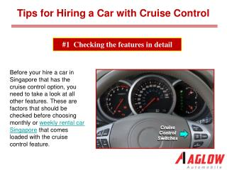Tips for Hiring a Car with Cruise Control