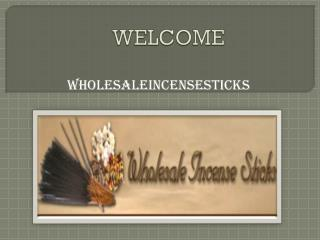 Wholesale Incense Bundles