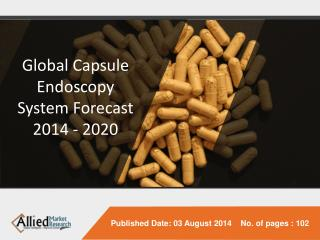 Capsule Endoscopy System - Market Opportunities and Forecast, 2014 - 2020