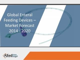 Enteral Feeding Devices - Market Opportunities and Forecast, 2014 - 2020