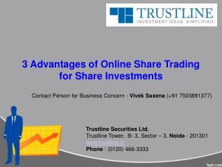 3 Advantages of Online Share Trading for Share Investments