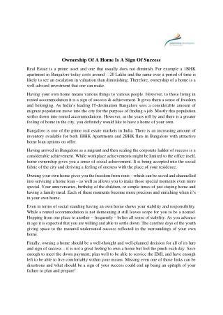 Pashminadevelopers-Home Selection Process