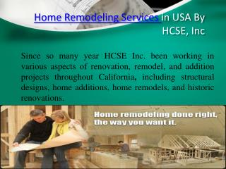 HCSE, Inc  Home Remodeling services