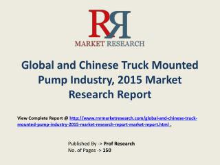 Truck Mounted Pump Market in China Forecasts for 2015-2020