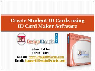 Create Student ID Cards Easily using ID Card Maker Software
