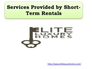 Services Provided by Short-Term Rentals