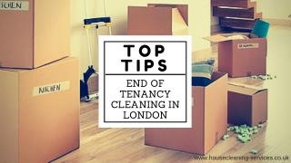 Top tips to clean - End of tenancy cleaning in London