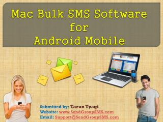 Mac Bulk SMS Software for android