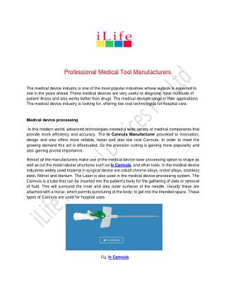 Professional Medical Tool Manufacturers
