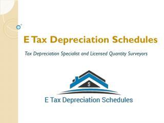 Tax Depreciation Schedules