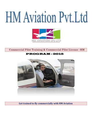Get trained to fly commercially with HM Aviation