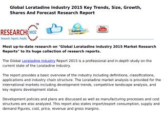 Global Loratadine industry 2015 Market Research Reports