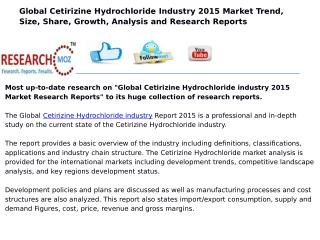 Market Research Reports on Global Cetirizine Hydrochloride industry 2015