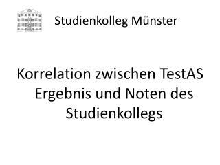 Studienkolleg M nster