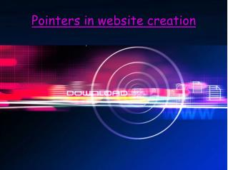 Pointers in website creation