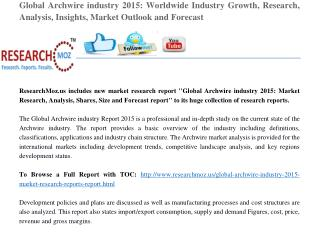 Global Archwire industry 2015 Market Research Reports