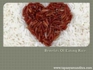Benefits Of Eating Rice