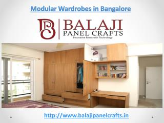 Modular Wardrobe Manufacturers & Dealers in Bangalore