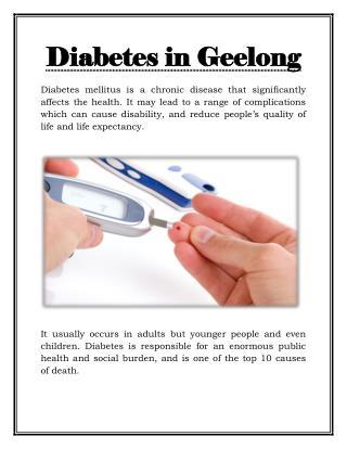 Diabetes Education in Geelong