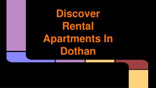Discover Rental Apartments In Dothan