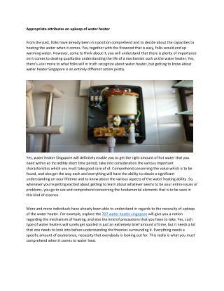 water heater singapore