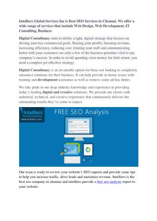 FREE SEO Analysis.