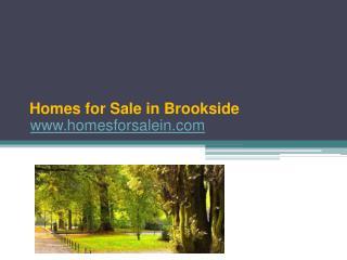 Brookside Homes for Sale - www.homesforsalein.com