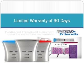 Limited Warranty of 90 Days