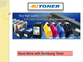 Save More with Samsung Toner