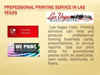 Printing services at Las Vegas