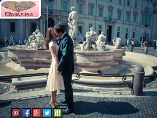 Get natural wedding photographs in a relaxing style at Rome Wedding Team
