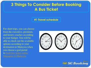 3 Things To Consider Before Booking A Bus Ticket