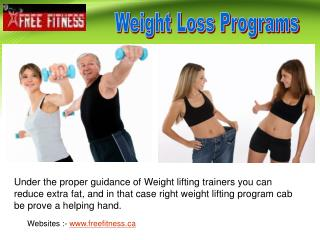 Weight Loss Programs by Professionals