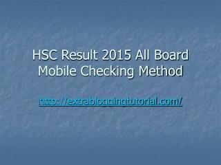 Hsc result 2015
