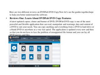 DVDFab DVD Copy: Copy and edit your DVDs with ease