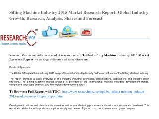 Global Sifting Machine Industry 2015 Market Research Report