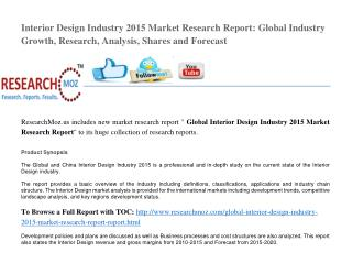 Global Interior Design Industry 2015 Market Research Report