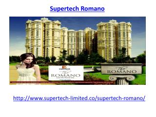 Supertech Romano Noida Housing Society