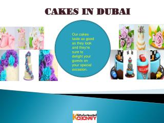 Cakes in Dubai
