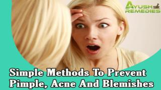 Simple Methods To Prevent Pimple, Acne And Blemishes