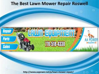 Lawn Mower Repair Roswell