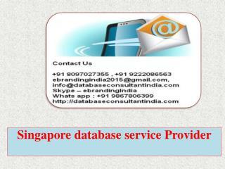 Singapore database service Provider